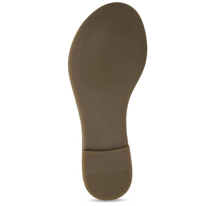 Hnědé kožené dámské sandály bata, hnědá, 564-3603 - 18