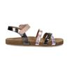 Dětské kožené sandály na suchý zip mini-b, zlatá, 466-8611 - 19
