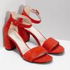 Červené kožené sandály na stabilním podpatku vagabond, červená, 623-5023 - 26
