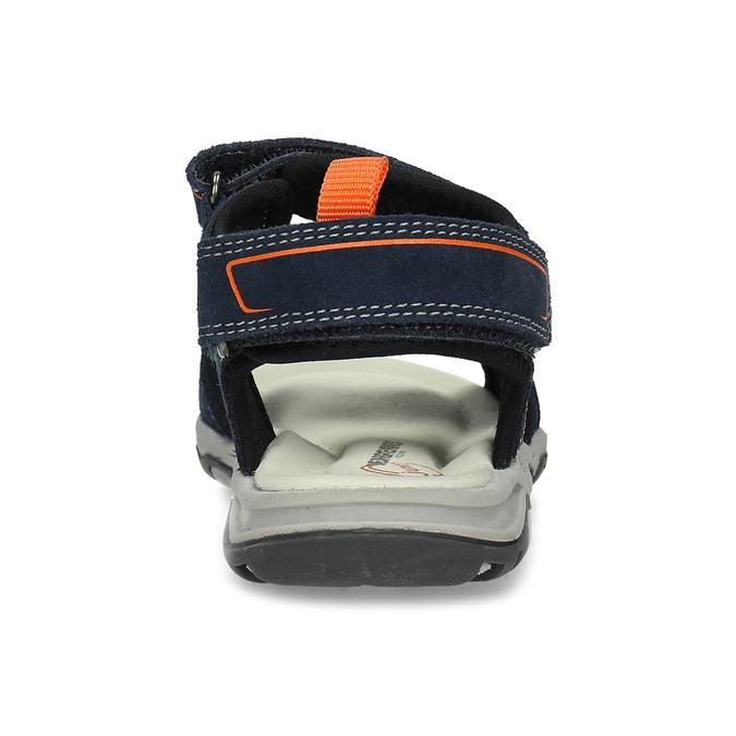 Sandály modré kožené weinbrenner, modrá, 463-9618 - 15