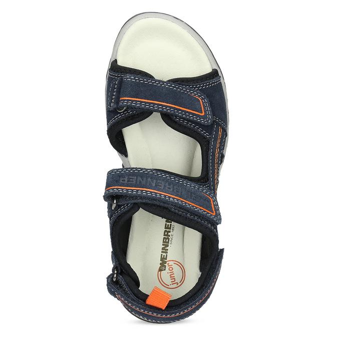 Sandály modré kožené weinbrenner, modrá, 463-9618 - 17