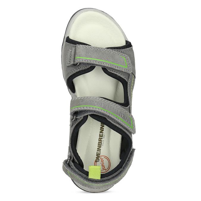 Chlapecké šedé sandály kožené weinbrenner, šedá, 463-2608 - 17