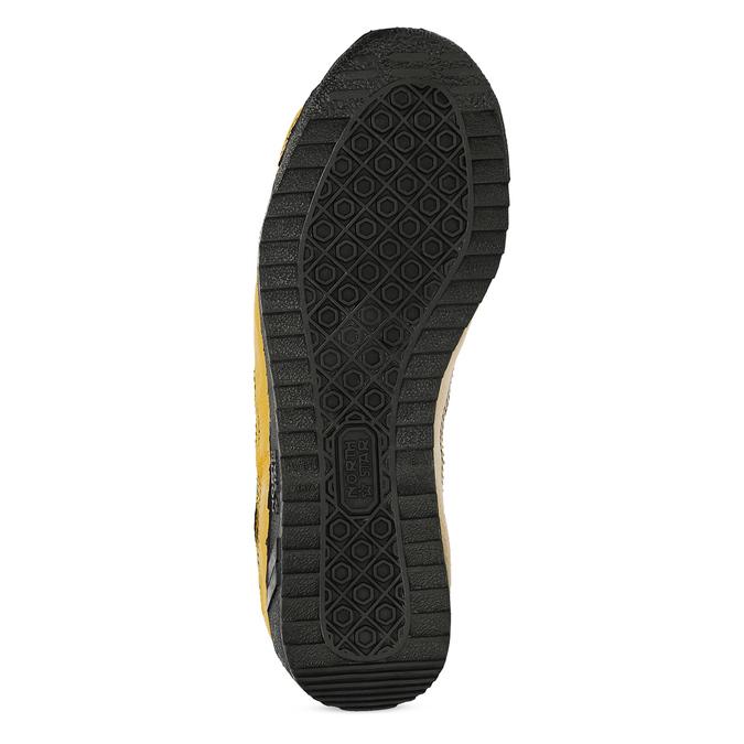 Žluté tenisky s černými detaily a průstřihy bata, žlutá, 544-8114 - 18