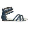 Dívčí sandály z kůže mini-b, modrá, 461-9620 - 19