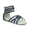 Dívčí sandály z kůže mini-b, modrá, 461-9620 - 13