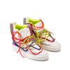 Bílé kotníčkové tenisky s barevnými tkaničkami bata, bílá, 544-1114 - 26