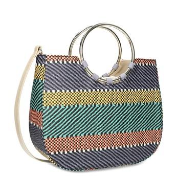Dámská kabelka se vzorem bata-red-label, modrá, 961-9970 - 13