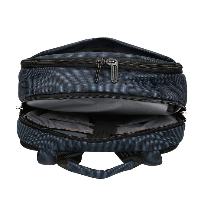 Modrý cestovní batoh s oranžovými detaily samsonite, modrá, 960-9056 - 15