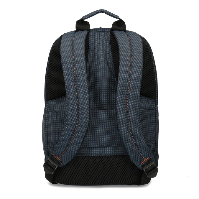Modrý cestovní batoh s oranžovými detaily samsonite, modrá, 960-9056 - 16