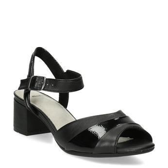 Dámské nazouváky na podpatku bata, černá, 664-6602 - 13