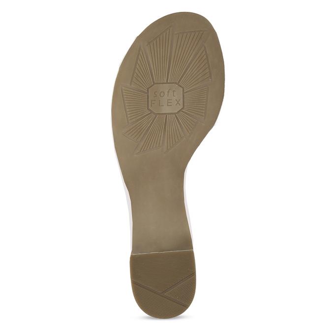 Bílé kožené sandály se stříbrnými detaily bata, bílá, 664-1602 - 18