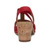 Červené dámské sandály z broušené kůže gabor, červená, 663-5602 - 15