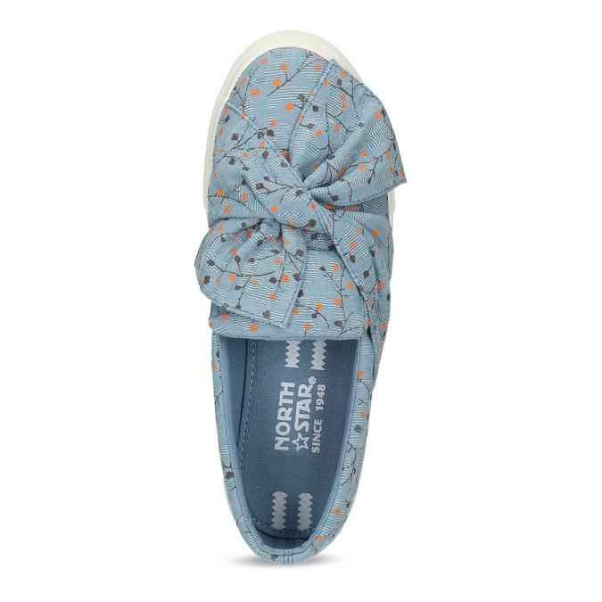 Modrá dámská Slip-on obuv se vzorem north-star, modrá, 639-9602 - 17