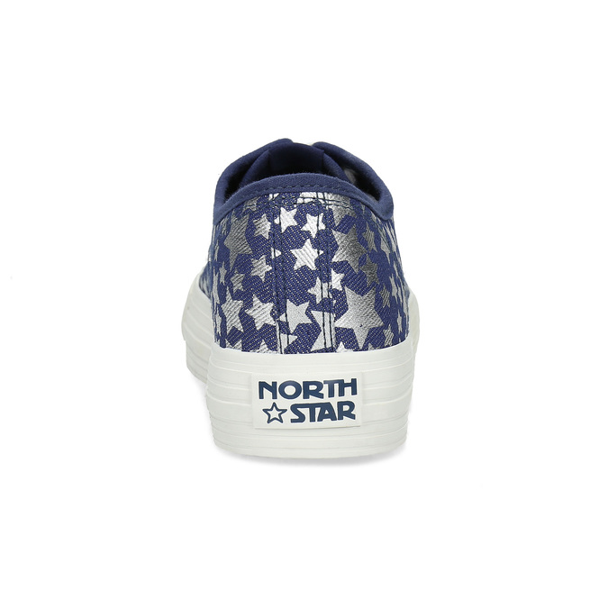 Modré dámské tenisky s hvězdičkami north-star, modrá, 649-9604 - 15