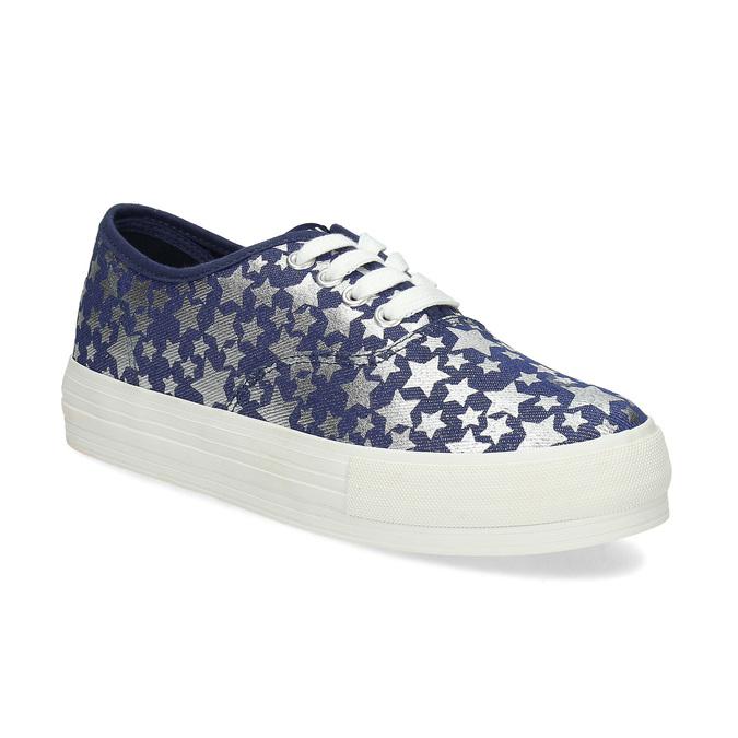 Modré dámské tenisky s hvězdičkami north-star, modrá, 649-9604 - 13