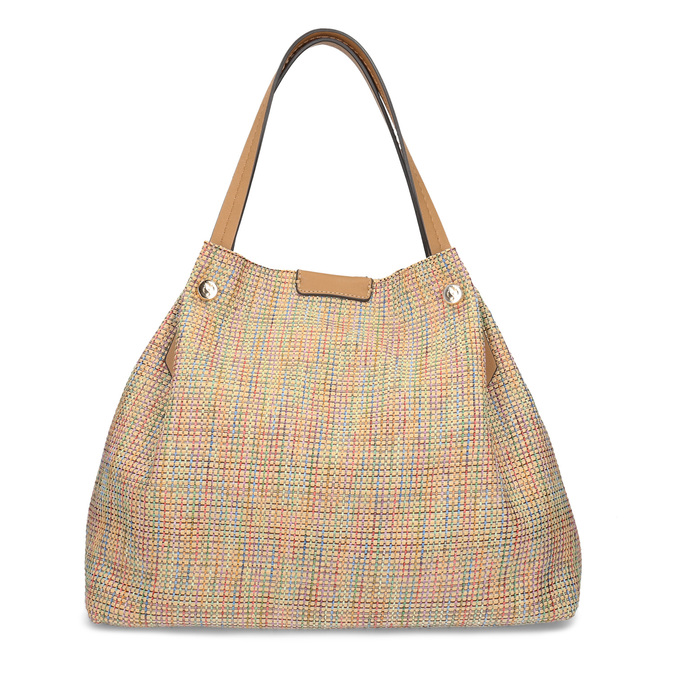 Béžová dámská kabelka s barevným protkáním bata, béžová, 969-8942 - 16