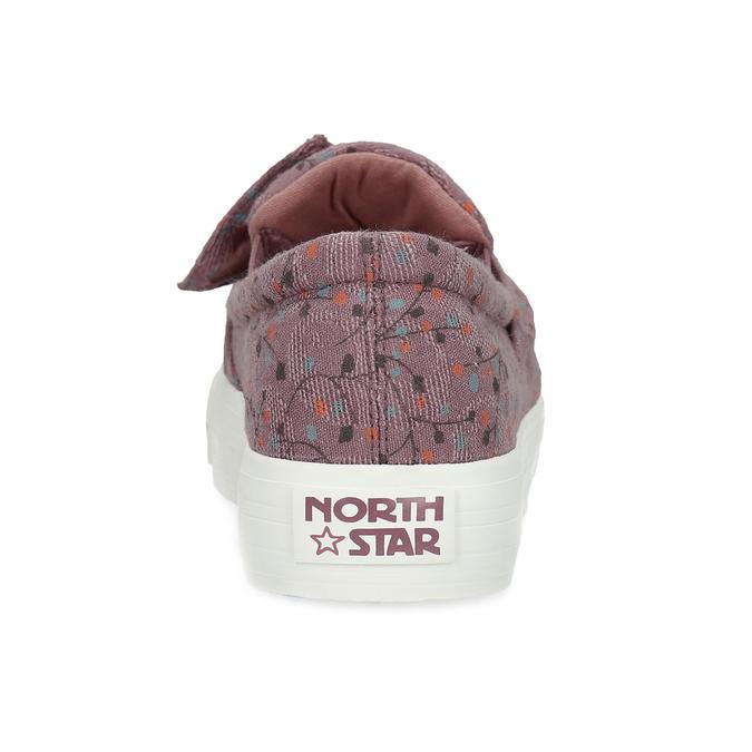 Fialová dámská Slip-on obuv se vzorem north-star, červená, 639-5602 - 15