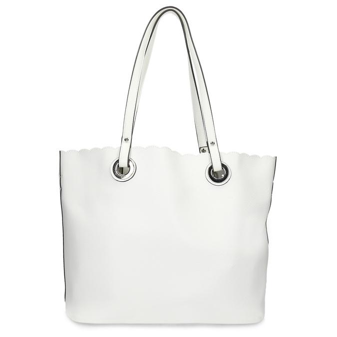 Bílá kabelka s vykrojením a perforací bata, bílá, 961-1944 - 16