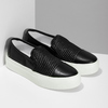 Černá dámská Slip-on obuv se strukturou bata-light, černá, 511-6615 - 26