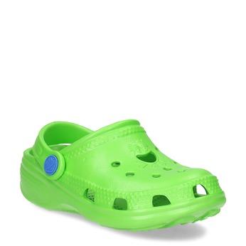 Zelené dětské sandály s průstřihy coqui, zelená, 372-7655 - 13