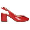 Červené lakované lodičky bata, červená, 628-5632 - 19