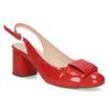 Červené lakované lodičky bata, červená, 628-5632 - 13