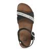 Černé kožené sandály s perličkami bata, černá, 666-6603 - 17