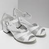 Bílé kožené sandály se stříbrnými detaily bata, bílá, 664-1602 - 26