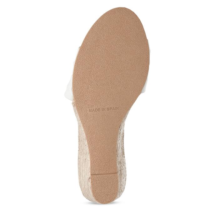 Bílé kožené sandály na klínku bata, bílá, 654-1600 - 18