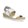Kožené sandály na klínku bílé bata, bílá, 664-1600 - 13