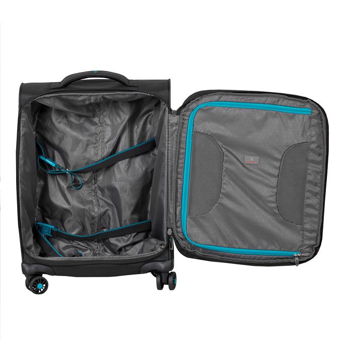 Cestovní textilní černý kufr roncato, černá, 969-6727 - 17