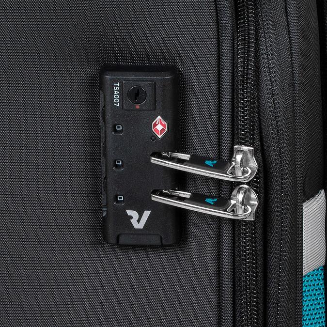Cestovní textilní černý kufr roncato, černá, 969-6727 - 16