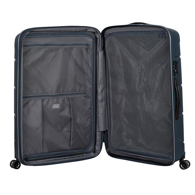 Modrý cestovní kufr na kolečkách roncato, modrá, 960-9617 - 17