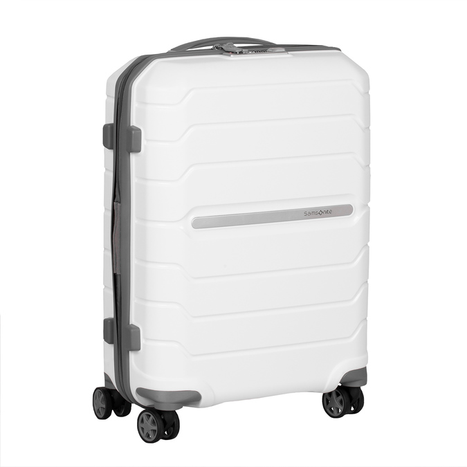 Bílý cestovní kufr na kolečkách samsonite, bílá, 960-1620 - 13