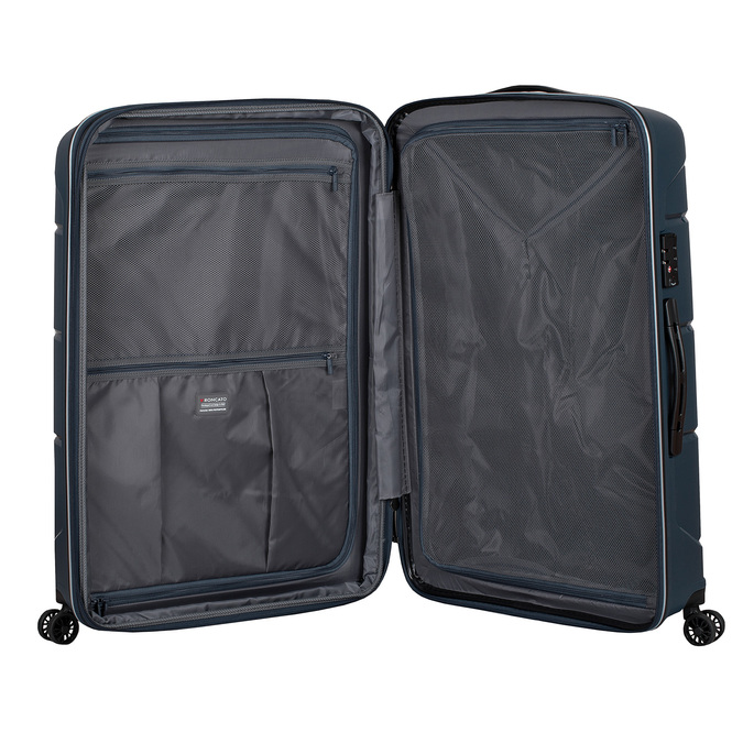 Cestovní modrý kufr na kolečkách roncato, modrá, 960-9618 - 17