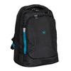 Černý cestovní batoh s modrými detaily roncato, černá, 969-6731 - 13