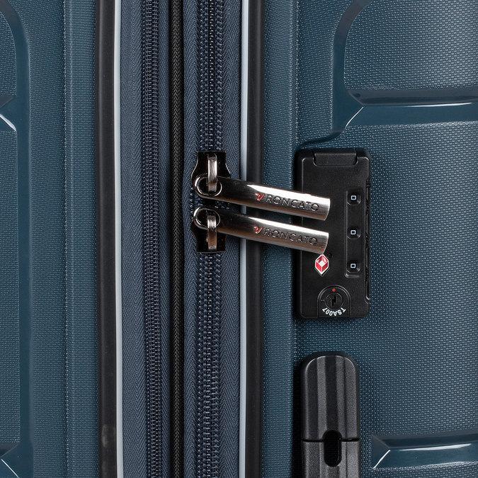 Cestovní modrý kufr na kolečkách roncato, modrá, 960-9618 - 16