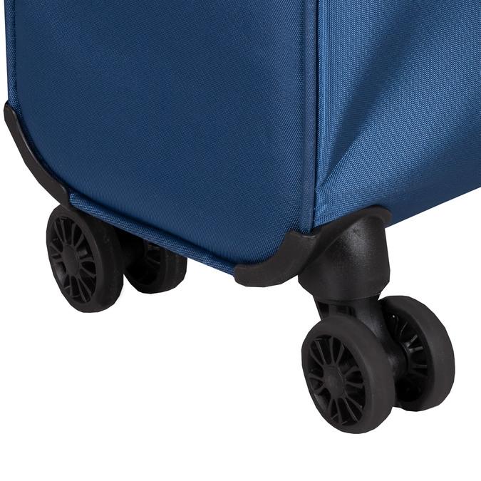 Modrý kufr na kolečkách s nápisy american-tourister, modrá, 969-9740 - 15
