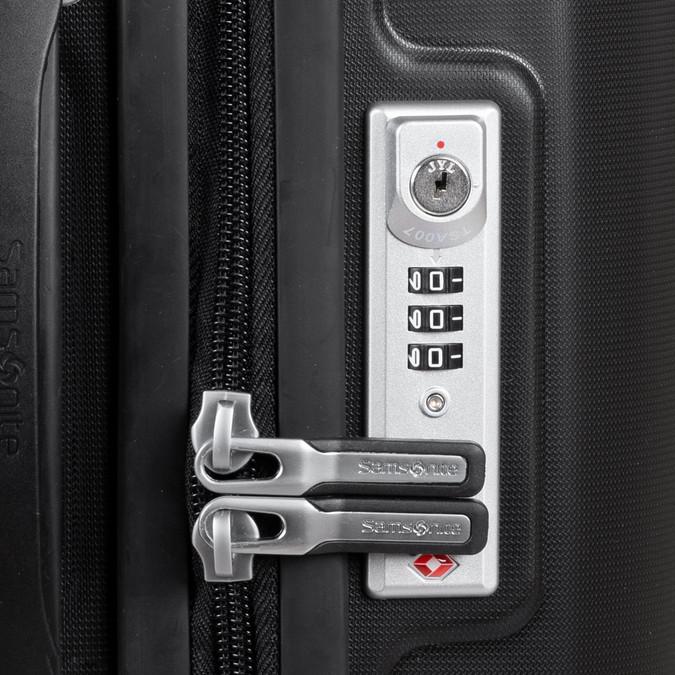 Černý cestovní kufr na kolečkách samsonite, černá, 960-6619 - 16