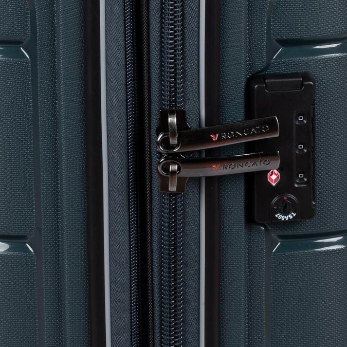 Tmavě modrý kufr na kolečkách roncato, modrá, 960-9616 - 16