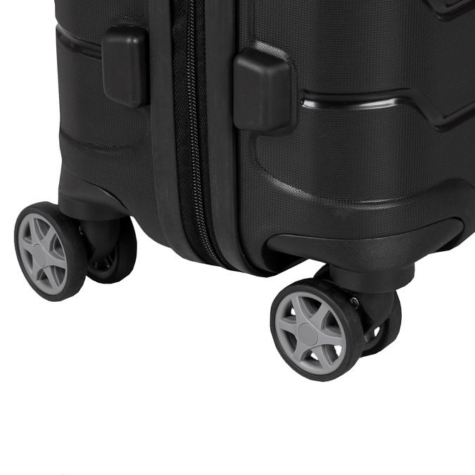 Černý cestovní kufr na kolečkách samsonite, černá, 960-6619 - 15