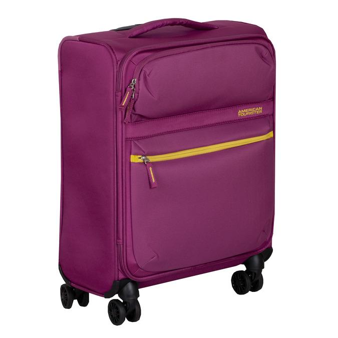 Fialový cestovní kufr na kolečkách american-tourister, růžová, 969-5627 - 13
