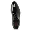 Pánské černé kožené lakované polobotky conhpol, černá, 828-6607 - 17