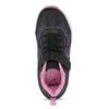 Černé dětské tenisky s růžovými detaily power, černá, 309-5413 - 17