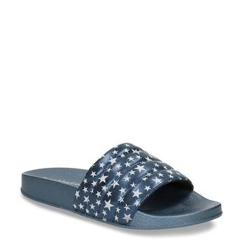 569687929 Modré dětské nazouváky s hvězdičkami north-star, modrá, 471-9609 - 13