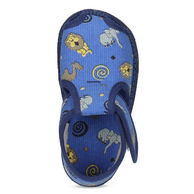 Modré dětské přezůvky se vzorem bata, modrá, 179-9630 - 17