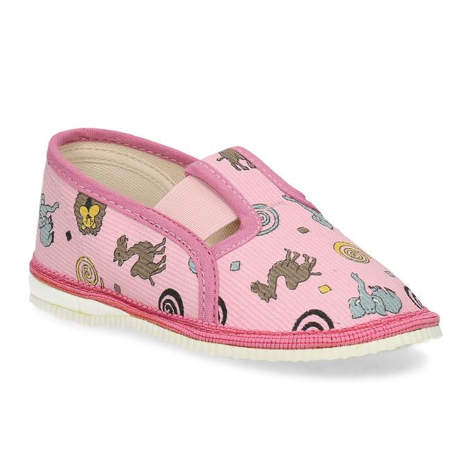 Růžové dětské přezůvky se vzorem bata, růžová, 279-5619 - 13