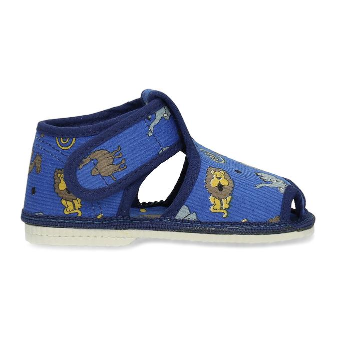 Modré dětské přezůvky se vzorem bata, modrá, 179-9630 - 19