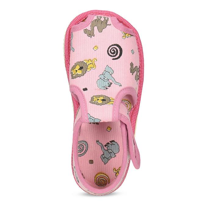 Růžové dětské přezůvky se vzorem bata, růžová, 179-5630 - 17