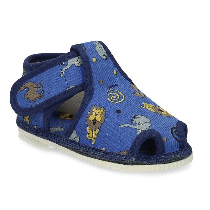 Modré dětské přezůvky se vzorem bata, modrá, 179-9630 - 13